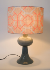 Christo Sky Blue_Yolk Interiors Custom Lamp Shades